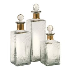 Hampshire Etched Decanter (Set of 3)