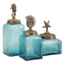 3 Piece Sea Life Canisters Set