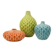 3 Piece Agatha Vase Set