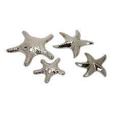 4 Piece Ceramic Star Fish Sculpture Set