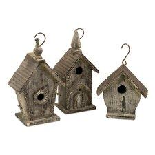 Cottage Mitchell Wood Bird Houses, 3 Piece Set