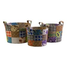 <strong>IMAX</strong> Sidonie Batik Basket (Set of 3)