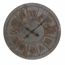 "Gilbert Galvanized Oversized 32"" Wall Clock"