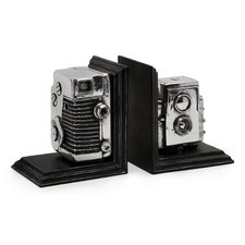 Vintage Camera Bookend (Set of 2)