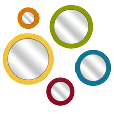 <strong>IMAX</strong> Emlyn Round Wall Mirrors (Set of 5)