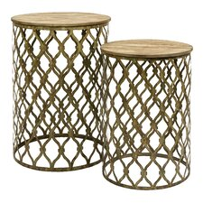 <strong>IMAX</strong> Maridell 2 Piece Nesting Tables