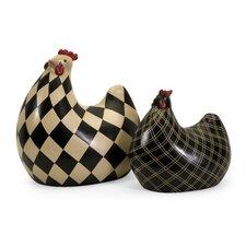 2 Piece Herrick Chicken Figurine