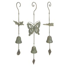Nalia Cast Iron Butterfly Wind Chime (Set of 3)