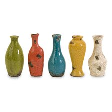 <strong>IMAX</strong> Mercade 5 Piece Mini Vase Set