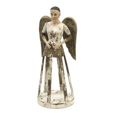 Emelda Handcarved Angel Santos Figurine