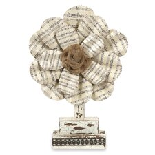 Davis Sheet Music Flower Figurine