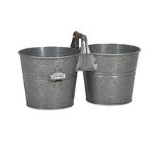 Galvanized Double Beverage Bucket with Bottle Opener