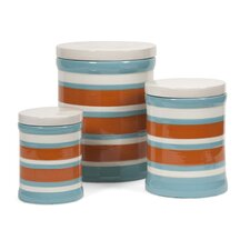 3 Piece Miles Striped Canisters Set