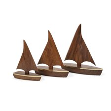 Bryan 3 Piece Wood Sailboats Set