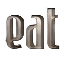 Eat Metal Wall Letter
