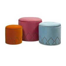 3 Piece Mickie Ottomans Set