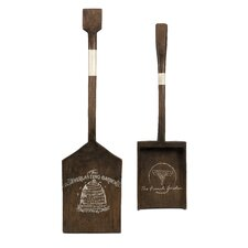 Chateau 2 Piece Wood Garden Tool Wall Decor Set