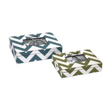 Chevron 2 Piece Hatcher Photo Box Set