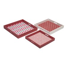Essentials 3 Piece Graphic Trays Set
