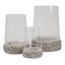 Hainsworth 3 Piece Open Top Glass Cloches Set