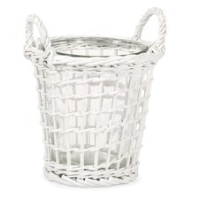 Tilton Willow and Glass Wicker Candle Lantern