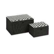 Chevron 2 Piece Thurston Beaded Boxes Set