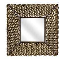Worcester Twisted Metal Square Wall Mirror
