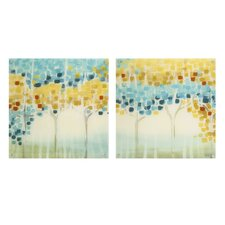 Forest Mosaic 2 Piece Painting Print Set