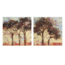 Kaleidoscope Trees 2 Piece Painting Print Set
