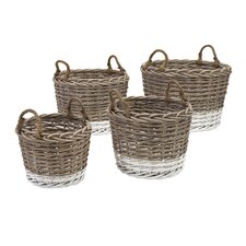4 Piece Danica Willow Basket Set