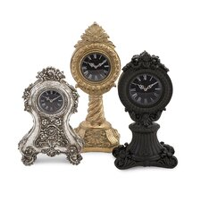 Nikki Chu 3 Piece Ornate Clock Set