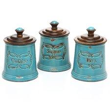 3 Piece Provincial Canister Vase Set