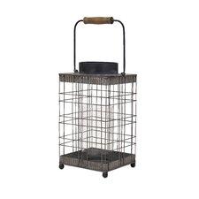 Pitzer Iron Wire/Glass Lantern