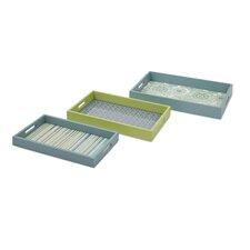 Essentials Reflective 3 Piece Tray Set