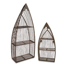 <strong>IMAX</strong> 2 Piece Nesting Boat Shelf Set