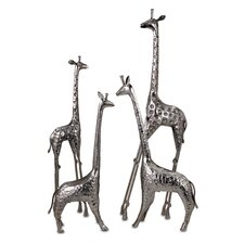 4 Piece Safari Giraffe Herd Figurine