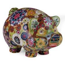 Folk Art Piggy Bank