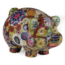 Open Box Price Folk Art Piggy Bank