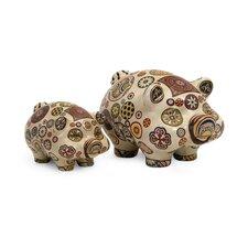 2 Piece Camden Pig Figurine