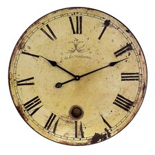 Large Wall Clock with Pendulum in Antique distressed