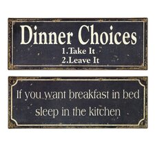 2 Piece Breakfast and Dinner Sign Set