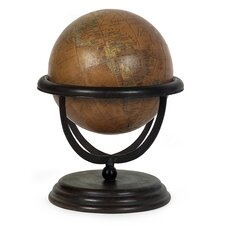 Large World Globe in Orange
