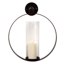 Wrought Iron and Glass Wall Sconce