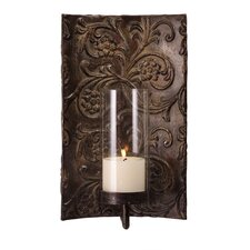 Galicia Embossed Metal and Glass Wall Sconce