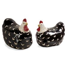 2 Piece Chicken Figurine Set