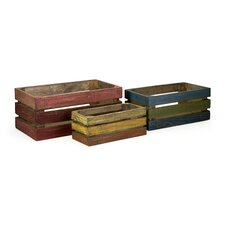 Midway Wood Crate in Rustic (Set of 3)