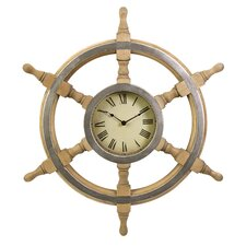"Oversized 26"" Ship Wheel Clock"