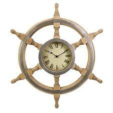 """Oversized Ship Wheel 26"""" Wall Clock"""