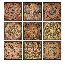 <strong>IMAX</strong> Tuscan Wall Panels, Individually Framed (Set of 9)