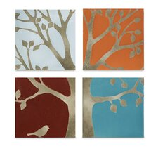 Meadow Terracotta Wall Tiles (Set of 4)